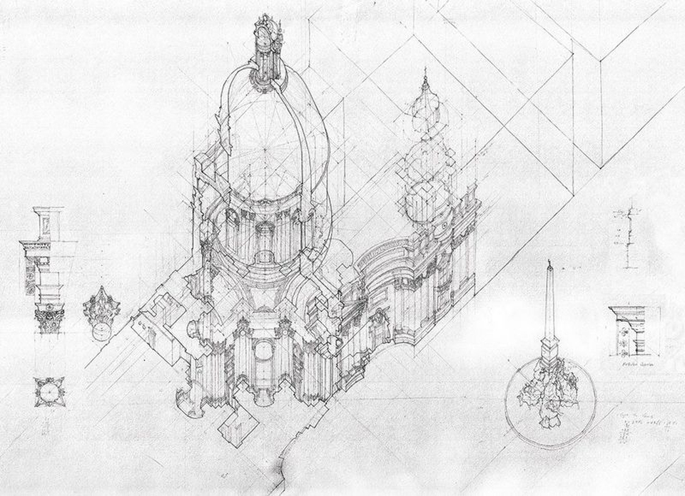 Winston Yuen: Dualities and Multiplicities. Sant' Agnese in Agone. Winston Yuen. Toll papíron, 1060 × 680mm